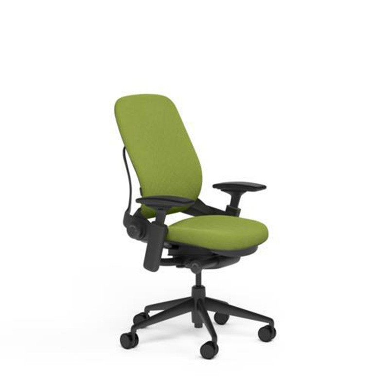 Steelcase Leap Desk Chair in Buzz2 Meadow Green Fabric - ...