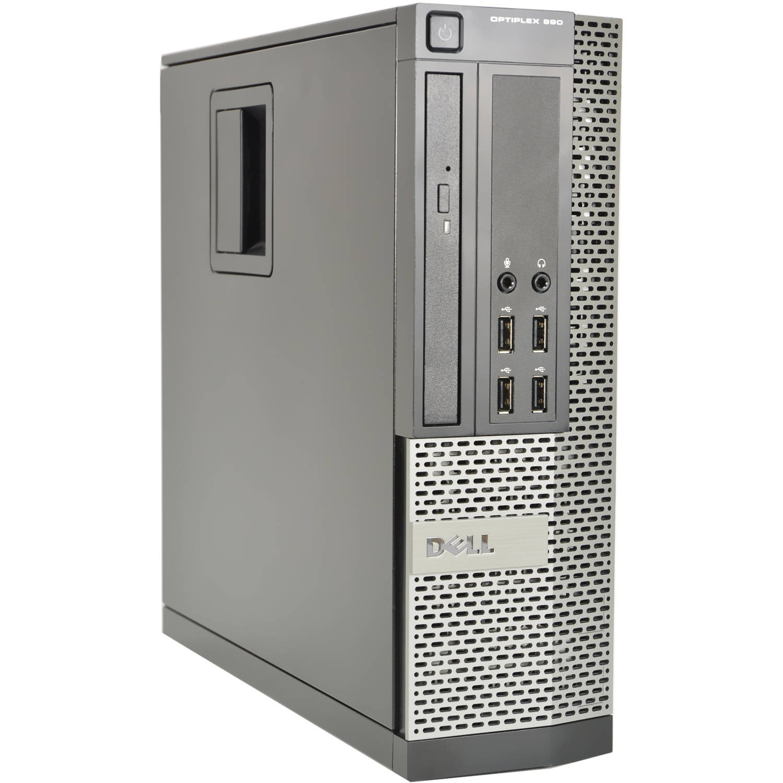 Refurbished Dell Optiplex 990-SFF WA1-0428 Desktop PC with Intel Core i7-2600 Processor, 8GB Memory, 1TB Hard Drive and Windows 10 Pro (Monitor Not Included)