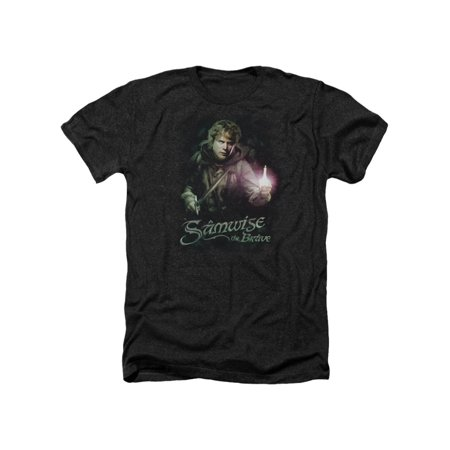 The Lord Of The Rings Samwise Gamgee The Brave Movie Adult Heather T-Shirt Tee (Lord Of The Rings Adult Onesie)