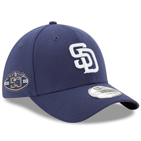 low priced 0233a fcc38 San Diego Padres New Era 50th Anniversary Team Classic 39THIRTY Flex Hat -  Navy - Walmart.com
