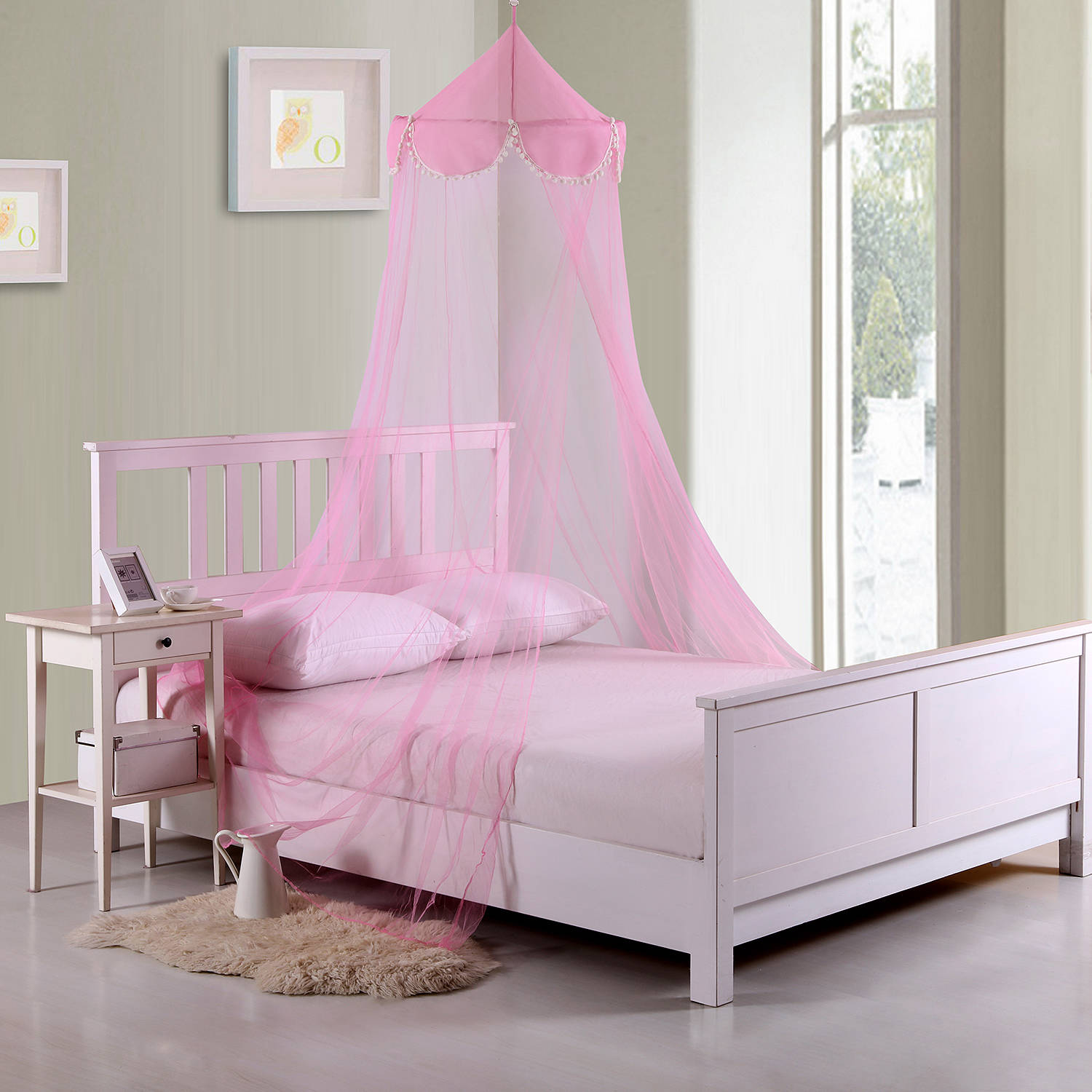 Pom Pom Kids' Collapsible Hoop Sheer Bed Canopy