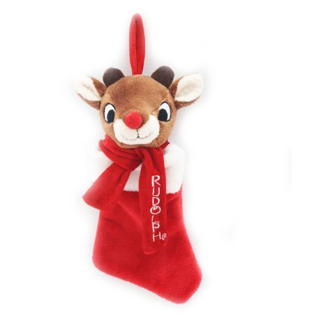 Holiday Time Christmas Decor Rudolph / Friends Mini Stocking - Rudolph Stocking