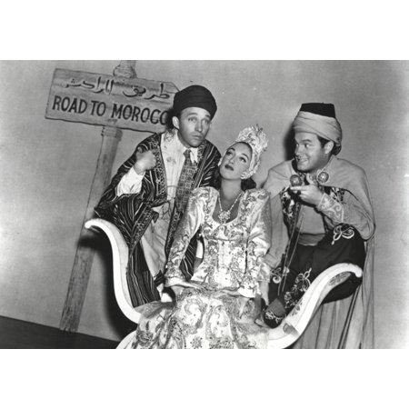 Bob Hope Along with Man and Woman in Arabian Outfit Group Portrait Photo Print - Arabian Outfit Ideas