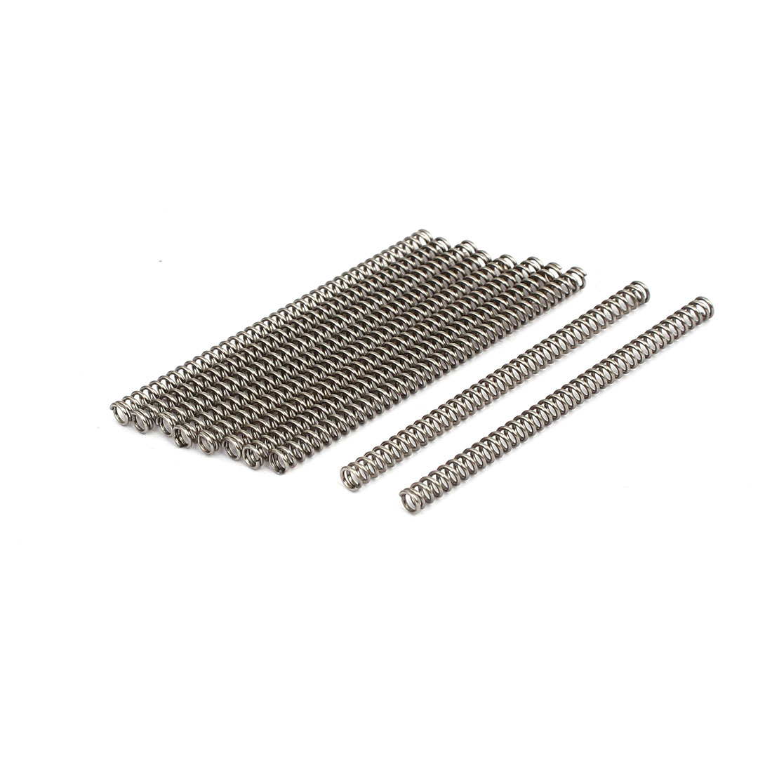 0.5mmx3mmx50mm 304 Stainless Steel Compression Springs 10pcs