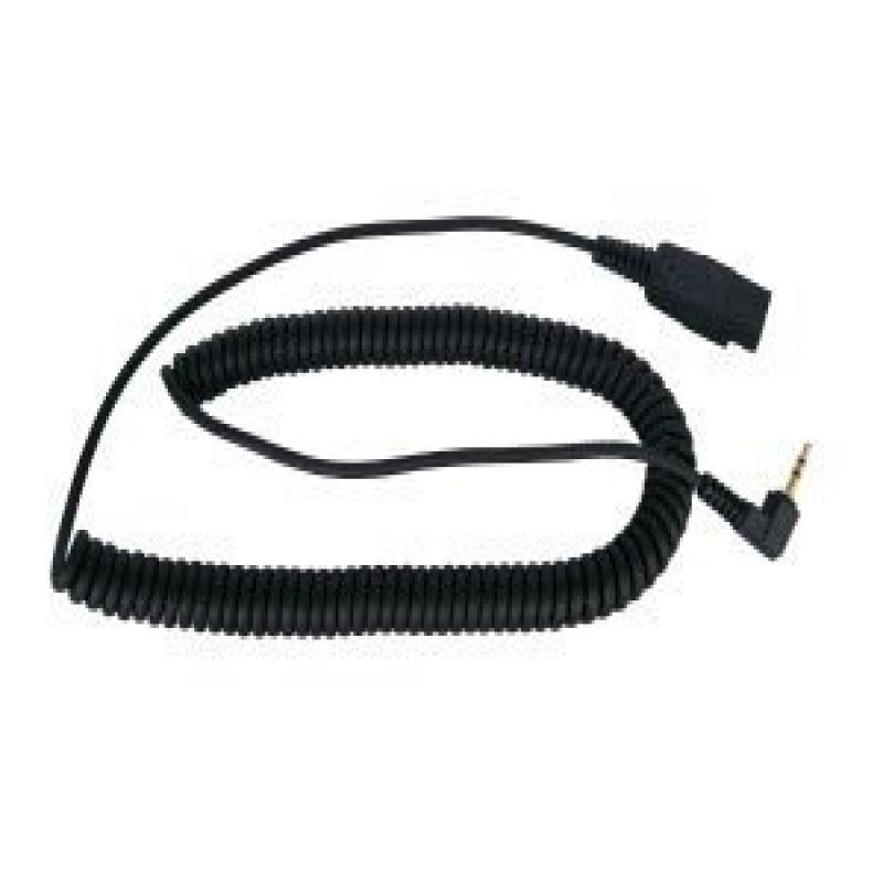 3.5 MM Long Curly Cord for GN Netcom/Jabra - Smith Corona Classic, VXI G Series Headsets
