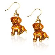 Whimsical Gifts 3833G-ER Puppy Charm Earrings, Gold