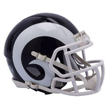 Miami Football Helmet (Riddell Los Angeles Rams Revolution Speed Mini Football)