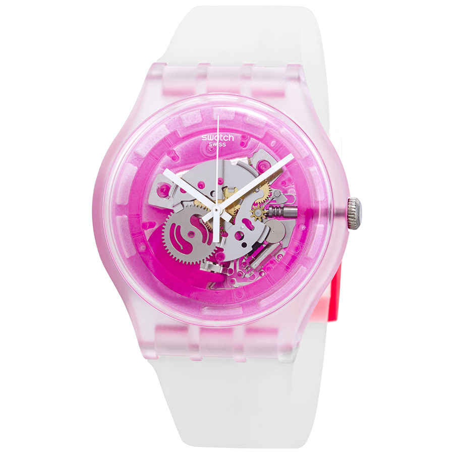 Swatch Swatch Pinkmazing Pink Skeleton Dial Watch Suok130