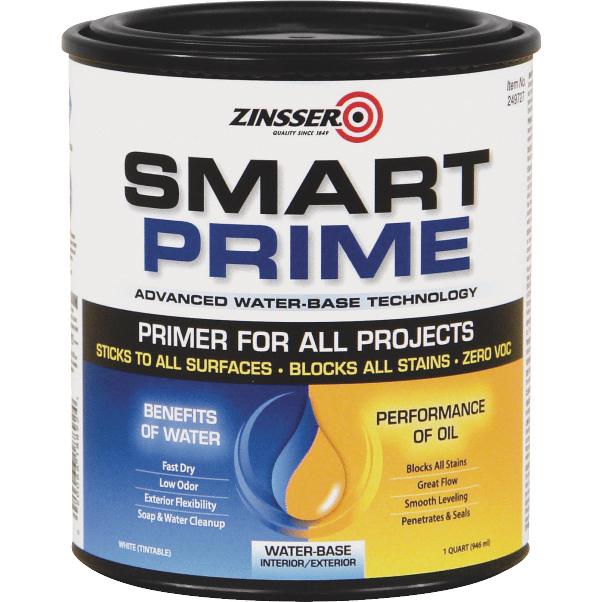 Zinsser Smart Prime Water-Base Interior/Exterior Stain Blocking Primer