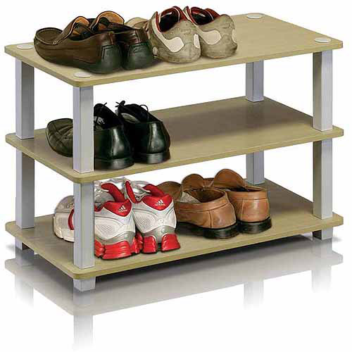 Furinno 13080 Turn-S-Tube No-Tools 3-Tier Shoe Rack