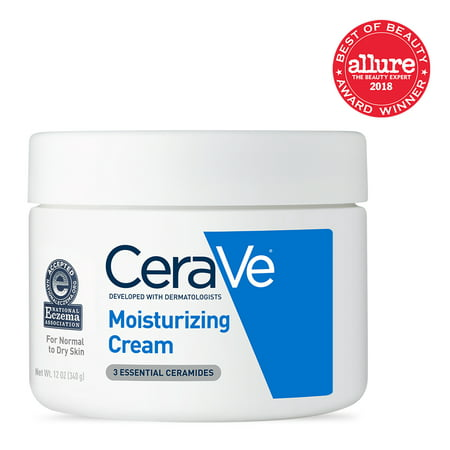 CeraVe Moisturizing Cream, Face and Body Moisturizer, 12