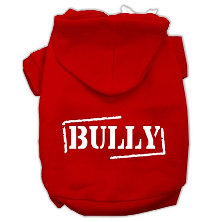 mirage 62 22 smrd bully screen printed pet hoodie red size sm