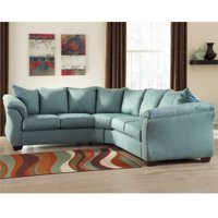 Flash Furniture Microfiber Right Facing Sectional Sofa (Sky)