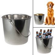 Loving Pets 16qt Stainless Steel Dog Pail Rust Proof Ice Bucket Mirror Finish