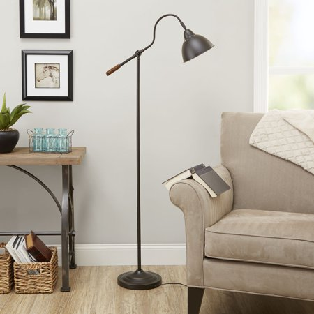 Better Homes & Gardens 5 Foot Adjustable Arm Floor Lamp Oil-Rubbed Bronze Finish, LED bulb included Arms 18 Finishes