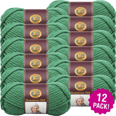 Lion Brand Hometown Usa Yarn 12/Pk-Green Bay Green - image 1 de 1