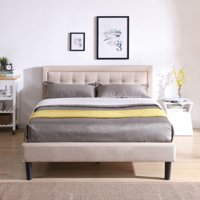 Modern Sleep Mornington Upholstered Platform Bed, Multiple Sizes