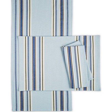 Martha Stewart Napkin - Collection Blue Striped Dinner Napkins set of 2, By Martha Stewart