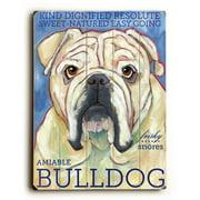 Artehouse LLC Bulldog by Ursula Dodge Graphic Art Plaque