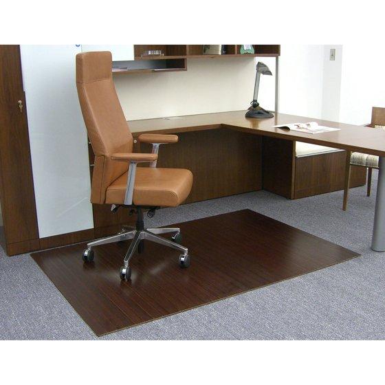 dark cherry 48 x 72 bamboo roll up office chair mat. Black Bedroom Furniture Sets. Home Design Ideas