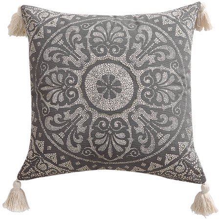 Better homes and gardens taupe medallion decorative pillow - Better homes and gardens pillows ...
