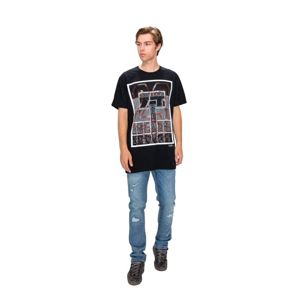 RING OF FIRE Men's Pinstripe Legend 23 Graphic Tee