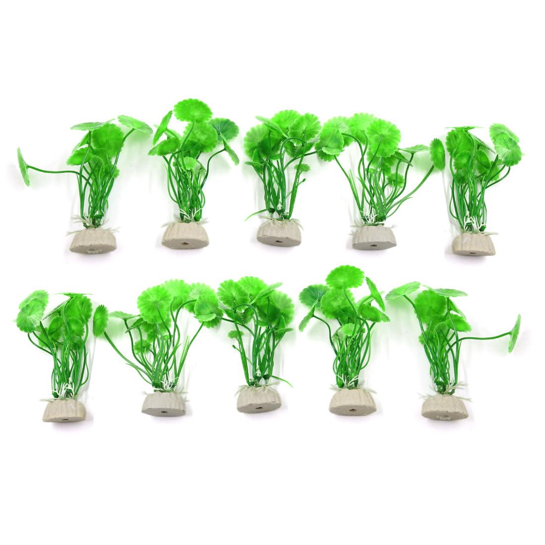 10pcs Green Aquarium Fish Tank Artificial Seagrass Plants Ornament Decorations