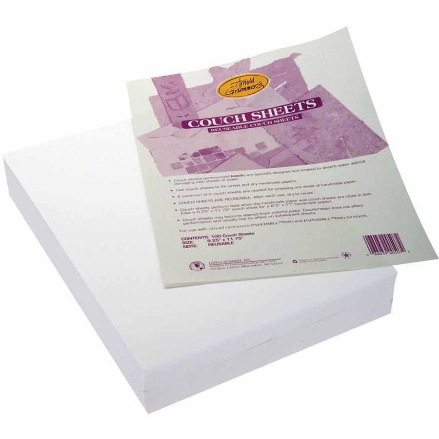 "Arnold Grummer Reusable Paper Couch Blotter Sheet, 9.25"" x 11.75"", Multiple Pack Sizes"