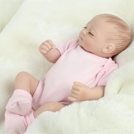 11'' Reborn Newborn Sleeping Baby Doll Girl Realistic Looking Soft Silicone Vinyl Dolls for Children Toddler Gifts for Ages 3+ (Preppy Looks For Girls)