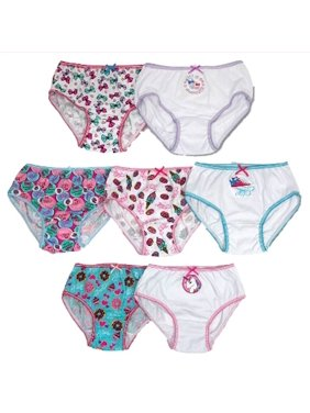 JoJo Siwa, Girls Underwear, 7 Pack Cotton Brief Panties (Little Girls & Big Girls)