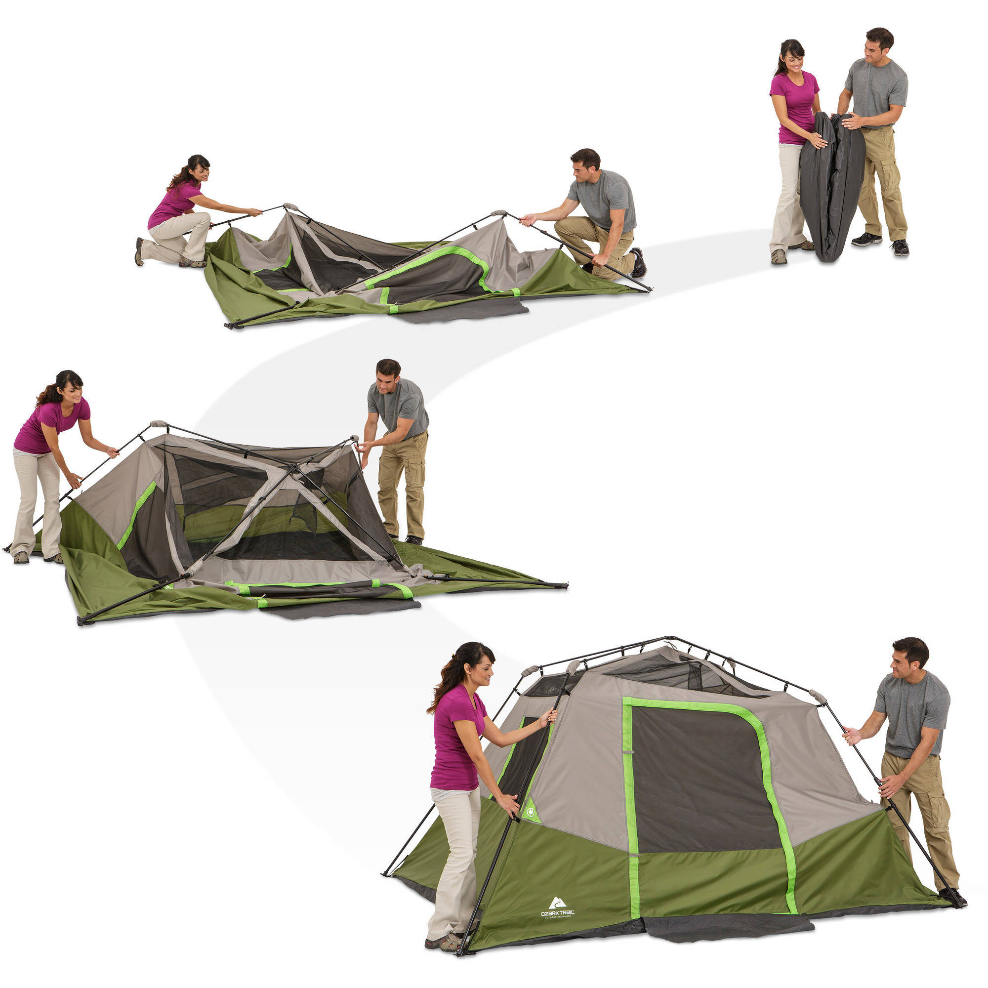 tent walmart instant person cabins ozark ip com cabin trail