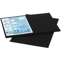 Tru-Ray Construction Paper, 76 lbs., 12 x 18, Black, 50 Sheets