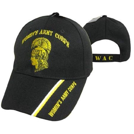 Women's Army Corps U.S. Army Black WAC Embroidered Cap Hat (TOPW), One size fits most By AES,USA
