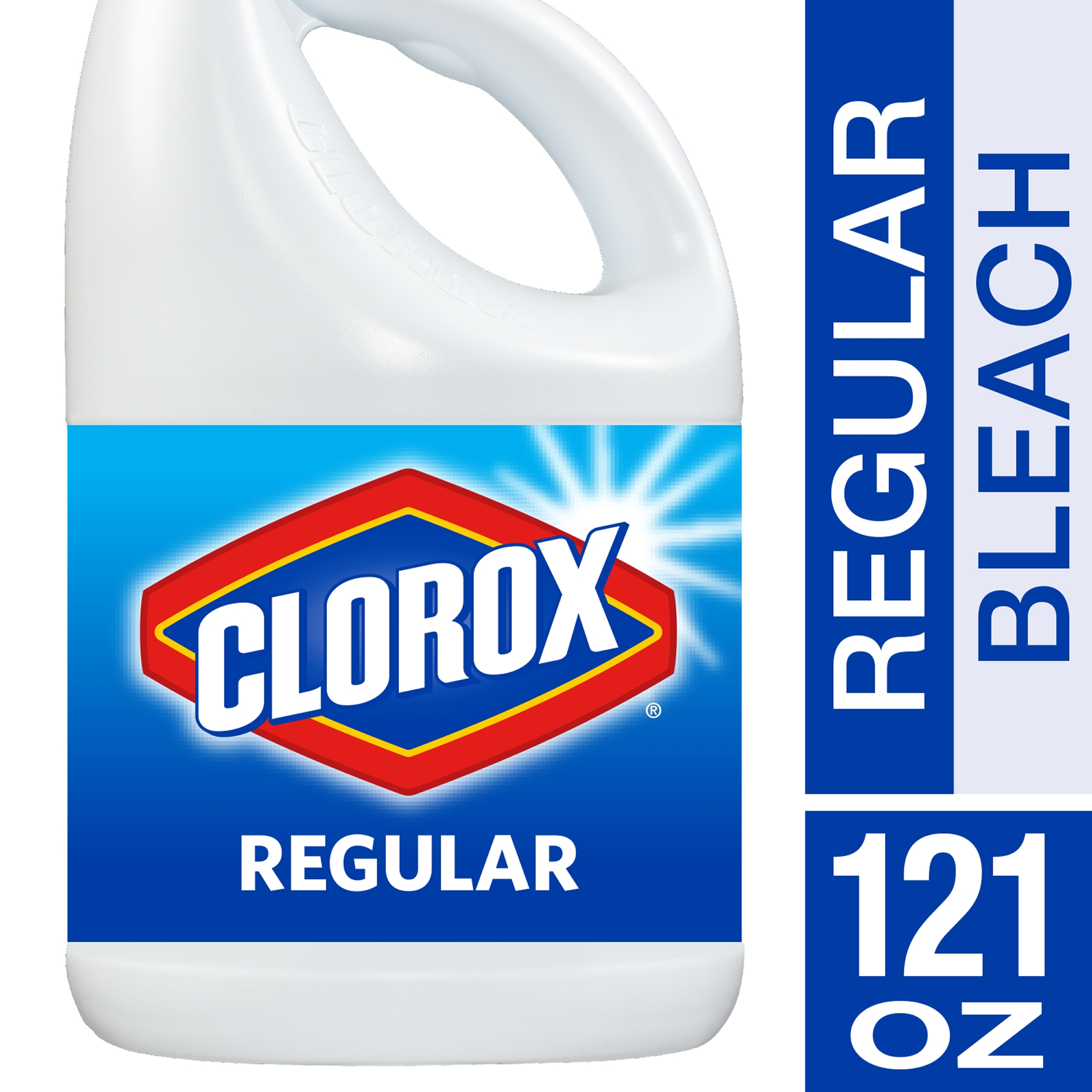 Click here to buy Clorox Bleach, Regular Scent, 121 Ounces by The Clorox Company.