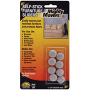 Master Manufacturing 8700-1 Mighty Movers Self-Stick Furniture Sliders