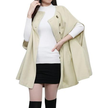 100% Silk Poncho (Women's Round Neck Slit Sleeves Poncho Coat )