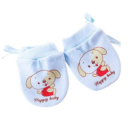 250f889b6 Fancyleo 2 Pairs Newborn Baby Mittens No Scratch Baby Cotton Gloves 0-6  Months