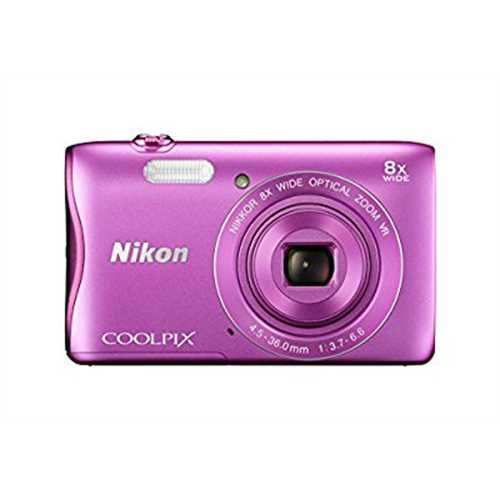 Refurbished Nikon COOLPIX S3700 Digital Camera with 8x Optical Zoom and Built-In Wi-Fi (Pink)