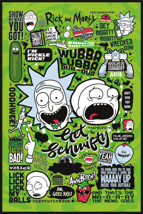 RICK AND MORTY I WANT TO BELIEVE POSTER 24x36