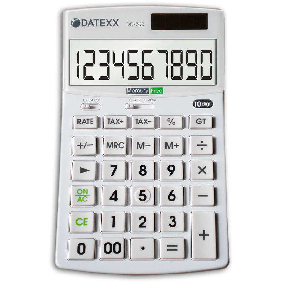 Datexx Hybrid Power 10-Digit Desktop Calculator