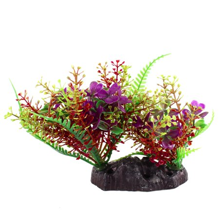 Purple Green Aquarium Landscaping 11cm High Simulated Aquatic Plant Decoration