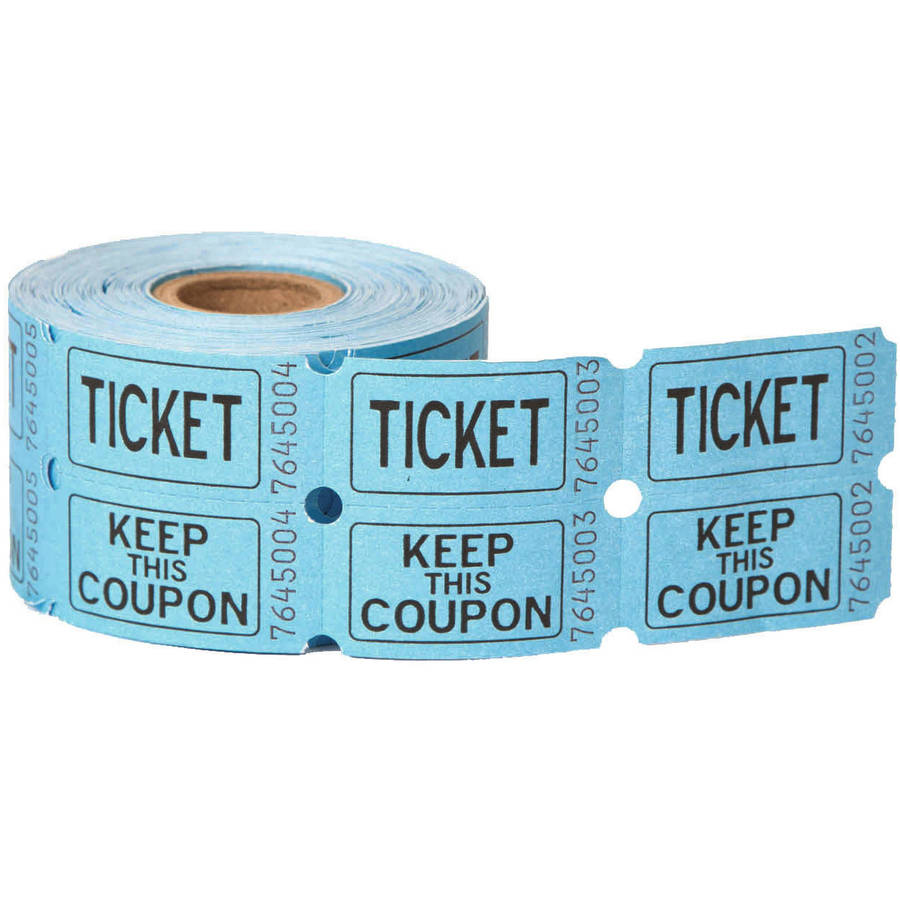 double roll raffle tickets 500ct assorted colors walmart com