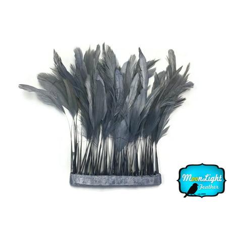 Feather Boas By The Dozen (1 Dozen - Grey Stripped Coque Tail)