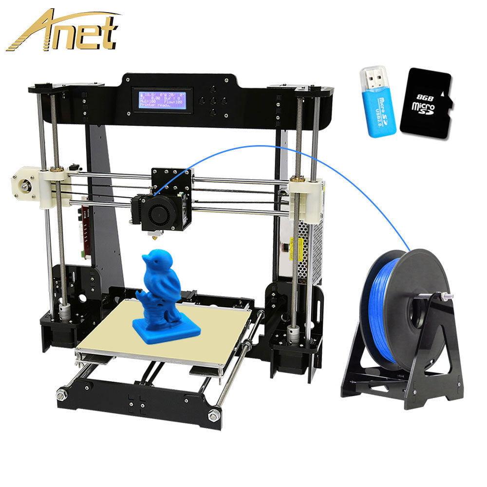 Anet A8 3D Printer Precision Reprap Prusa Kit 1.75mm 0.4mm ABS/PLA/HIPS/WOOD/PVA THINK