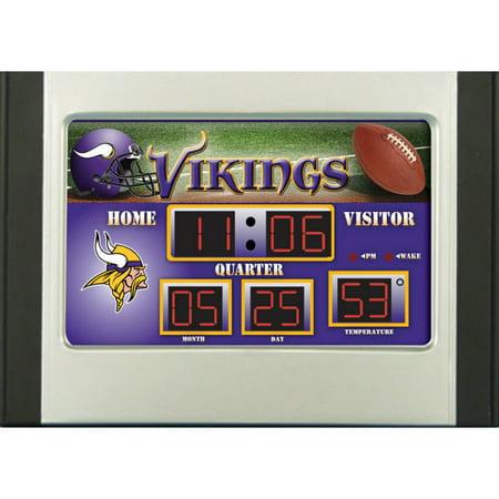 Minnesota Timberwolves Clock (Minnesota Vikings 6.5'' x 9'' Scoreboard Desk Clock - No Size)