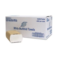 General Supply Multifold Towels, White, 16 count