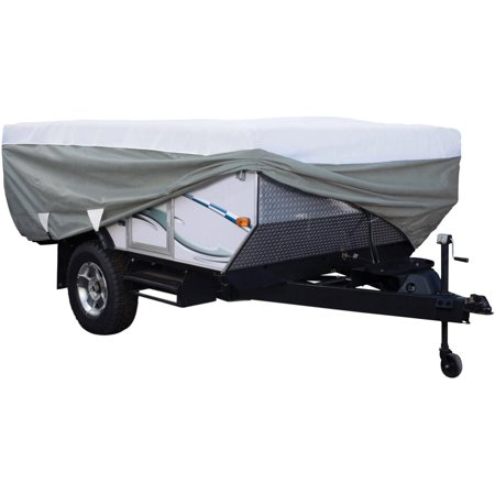 Classic Accessories PolyPRO 3 Pop-Up Camper Trailer RV Storage Cover, Fits Trailers 8