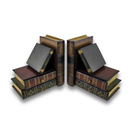 (Stack of Hardcovers Bookends with Stash Drawers)