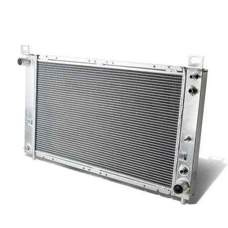 For 1999 to 2012 Silverado / Sierra / Yukon / Suburban / Escalade AT 2 -Row Dual Core Aluminum Racing Radiator 05 06 07 08 09 10 11
