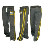 Men's Joggers Cotton Fleece Jogging Trousers Pants Track Suit Bottom MMA Boxing Charcoal Small
